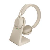 Jabra Evolve2 65, MS Stereo Headset Hoofdband Beige