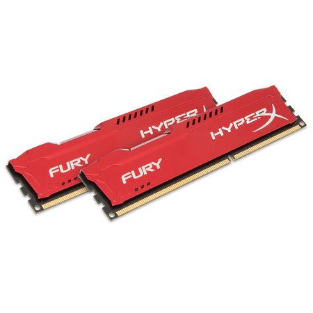 Kingston HyperX FURY Red 16GB 1600MHz DDR3 geheugenmodule 2 x 8 GB