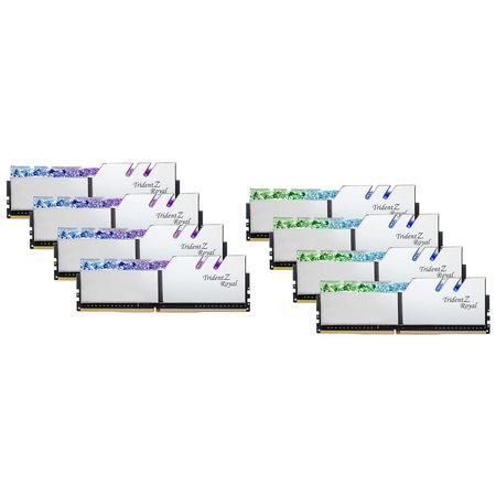G.Skill G.Skill Trident Z Royal F4-3200C14Q2-256GTRS geheugenmodule 256 GB 8 x 32 GB DDR4 3200 MHz