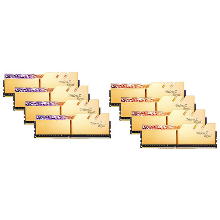 G.Skill G.Skill Trident Z Royal F4-3200C14Q2-256GTRG geheugenmodule 256 GB 8 x 32 GB DDR4 3200 MHz