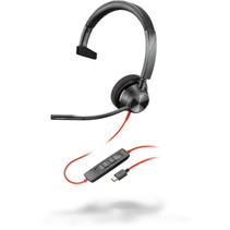 POLY Blackwire 3310 Headset Hoofdband USB Type-C Zwart