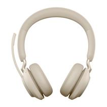 Jabra Evolve2 65, MS Stereo Headset Hoofdband USB Type-C Bluetooth Beige