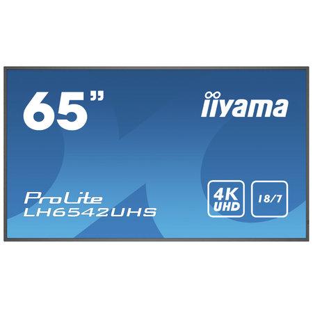 """Iiyama iiyama LH6542UHS-B1 beeldkrant Digitale signage flatscreen 163,8 cm (64.5"""") IPS 4K Ultra HD Zwart Type processor Android 8.0"""