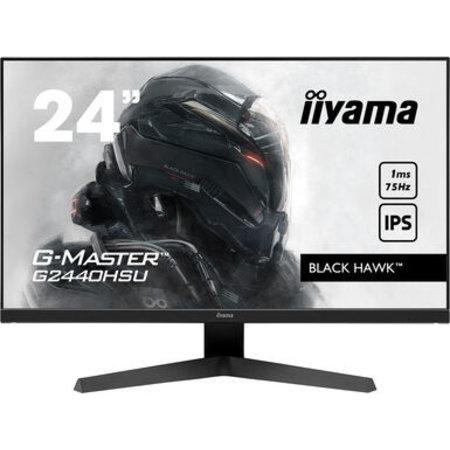 "Iiyama iiyama G-MASTER G2440HSU-B1 LED display 60,5 cm (23.8"") 1920 x 1080 Pixels Full HD Zwart"