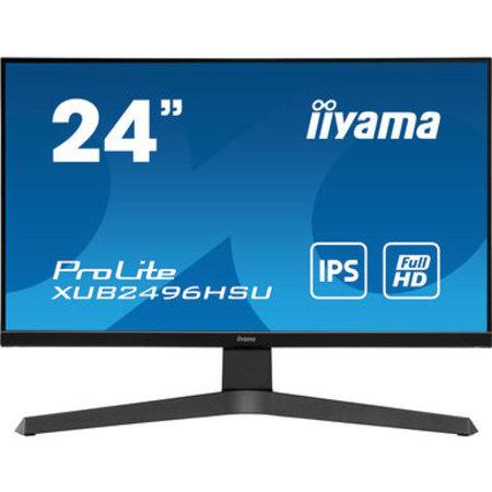 "Iiyama iiyama ProLite XUB2496HSU-B1 LED display 60,5 cm (23.8"") 1920 x 1080 Pixels Full HD Zwart"