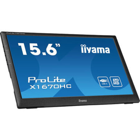 "Iiyama iiyama ProLite X1670HC-B1 computer monitor 39,6 cm (15.6"") 1920 x 1080 Pixels Full HD LED Zwart"