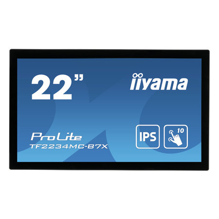 "Iiyama iiyama ProLite TF2234MC-B7X touch screen-monitor 54,6 cm (21.5"") 1920 x 1080 Pixels Multi-touch Multi-gebruiker Zwart"