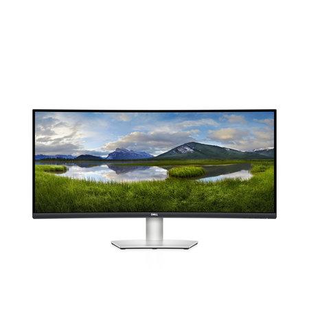 "Dell DELL S Series S3422DW 86,4 cm (34"") 3440 x 1440 Pixels Wide Quad HD LCD Zwart, Zilver"