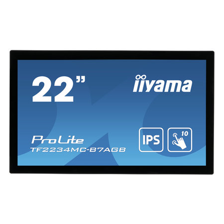 "Iiyama iiyama ProLite TF2234MC-B7AGB touch screen-monitor 54,6 cm (21.5"") 1920 x 1080 Pixels Multi-touch Multi-gebruiker Zwart"