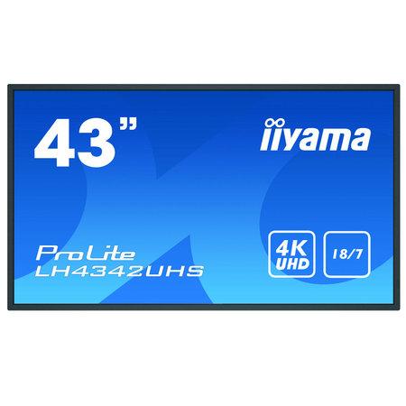 """Iiyama iiyama LH4342UHS-B3 beeldkrant Digitale signage flatscreen 108 cm (42.5"""") IPS 4K Ultra HD Zwart Type processor Android 8.0"""