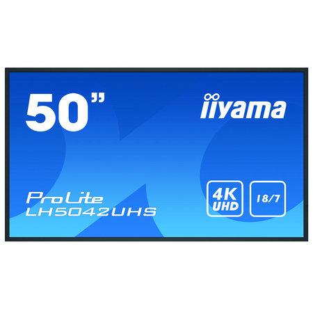 """Iiyama iiyama LH5042UHS-B3 beeldkrant Digitaal A-kaart 125,7 cm (49.5"""") VA 4K Ultra HD Zwart Android 8.0"""