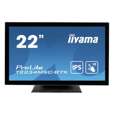 "Iiyama iiyama ProLite T2234MSC-B7X touch screen-monitor 54,6 cm (21.5"") 1920 x 1080 Pixels Multi-touch Zwart"