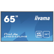 "iiyama LH6542UHS-B3 beeldkrant Digitale signage flatscreen 163,8 cm (64.5"") IPS 4K Ultra HD Zwart Type processor Android 8.0"