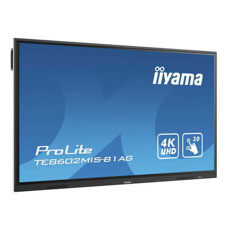 "Iiyama iiyama TE8602MIS-B1AG interactive whiteboards & accessories 2,18 m (86"") 3840 x 2160 Pixels Touchscreen Zwart"