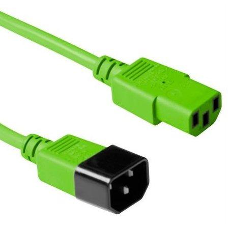 ACT Netsnoer 230V C13 - C14 groen 0.6m