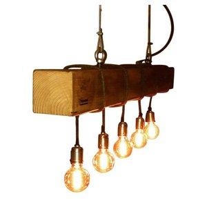 Yucwood Lampe von Hand gemacht Douglas 150cm