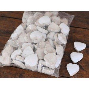 Coconut Heart 5cm White 100pcs
