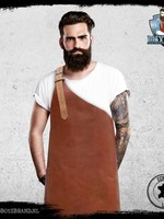 Bad Boys Brand Maximus Cognac Barbecueschort 100% Leer