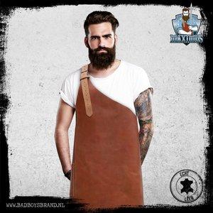 Bad Boys Brand Maximus Cognac Barbecue Apron 100% Leather