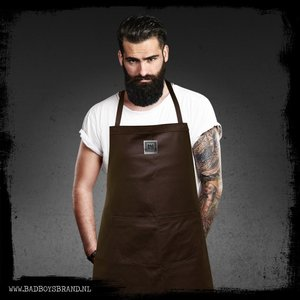 Bad Boys Brand Gladiator Brown Barbecue Apron 100% Leather