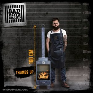 Bad Boys Brand Thumbs Up Garden fireplace 168cm Steel