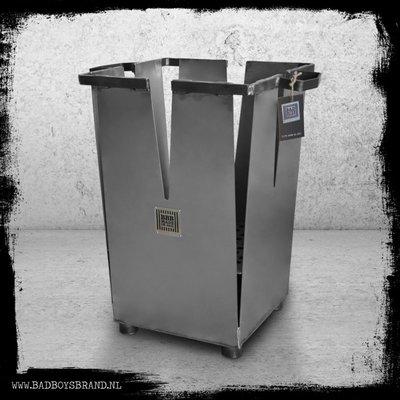 Bad Boys Brand Firestarter RAW - fire pit 12 KG - BadBoys Fire - Steel - 100% Made in Jail