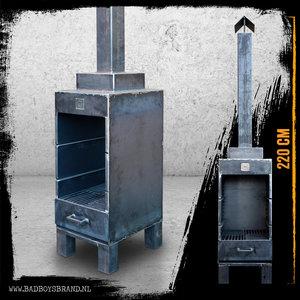 Bad Boys Brand Sparta Gartenkamin 220 cm Stahl