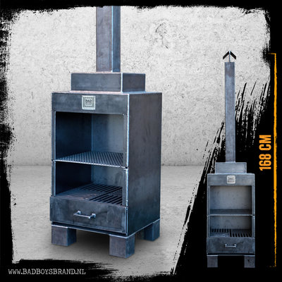 Bad Boys Brand Thumbs Up - Outdoor Fireplace - BadBoys Fire Made in Jail - 168cm - Steel - 100% Made in Jail