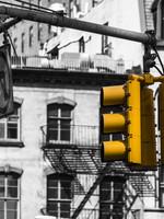 """Frans van Steijn """"New York Yellow!"""" op Dibond 120cm"""