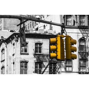 "Frans van Steijn ""NY Gelb!"" auf Dibond 120 cm"