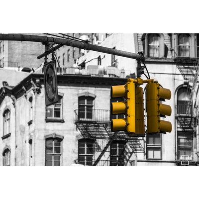 "Frans van Steijn Wall photo ""NY Yellow!"" Aluminum on Dibond 120 cm"