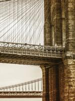 """Frans van Steijn """"New York Brooklyn Bridge"""" op Dibond 120cm"""