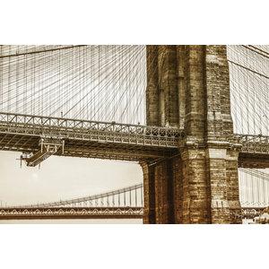 "Frans van Steijn ""NY Brooklyn Bridge"" on Dibond 120cm"