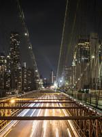 """Frans van Steijn """"New York The Bridge"""" op Dibond 120cm"""