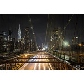 "Frans van Steijn Wall photo ""NY The Bridge"" Aluminum on Dibond 120 cm"