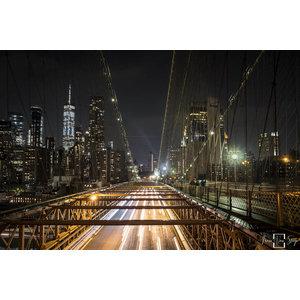 "Frans van Steijn ""NY The Bridge"" auf Dibond 120cm"
