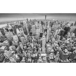"Frans van Steijn ""New York High B&W"" op Dibond 120cm"