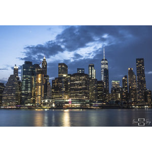 "Frans van Steijn ""NY Blue York"" auf Dibond 120 cm"