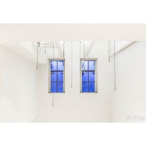 """Frans van Steijn """"Blue Windows"""" op Dibond 120cm"""