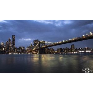 "Frans van Steijn ""New York Brooklyn Nights"" op Dibond 120cm"