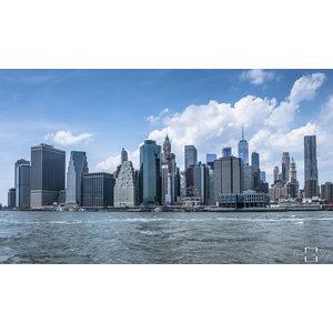 "Frans van Steijn ""New York Blue Skyline"" op Dibond 120cm"