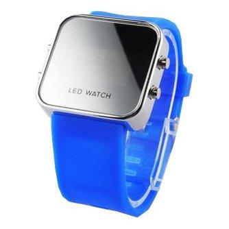 LED Horologe Felblauwe Band