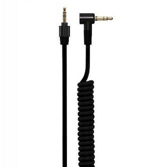 4.2mm Coiled Kabel met 3.5mm Twist Lock Plug Zwart