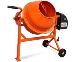 Tech66 Elektrische Betonmolen oranje staal 63 L 220 W