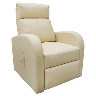 Tech66 Massagefauteuil met verwarming en afstandsbediening crème