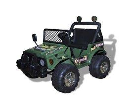 Tech66 Elektrische speelgoedauto 2-zits (legergroen)