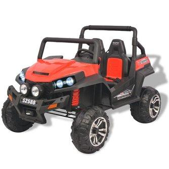 Tech66 Elektrische speelgoedauto voor 2 personen rood en zwart XXL