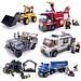 MyXL Kids Model Building Kits Diy Robot Voertuig Auto Leger Stad Vrachtwagen Brandweerauto Legoings Gemonteerd Model Jongens Bouwstenen Speelgoed