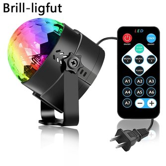 MyXL Sound Activated Roterende Disco Ball Party Verlichting Strobe Light 3 W RGB LED Podium Verlichting Voor Kerst Thuis KTV Xmas bruiloft Tonen