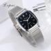 MyXL Lvpai LuxeHorloges Vrouwen Rvs Zwart Vierkant Wijzerplaat Casual Armband Quartz Horloges Montre Femme